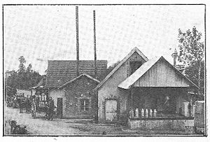 La fromagerie Claudel à Remilly-sur-Lozon en 1926.
