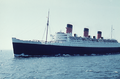 RMS Queen Mary 1 westward bound on the North Sea - 1959.png